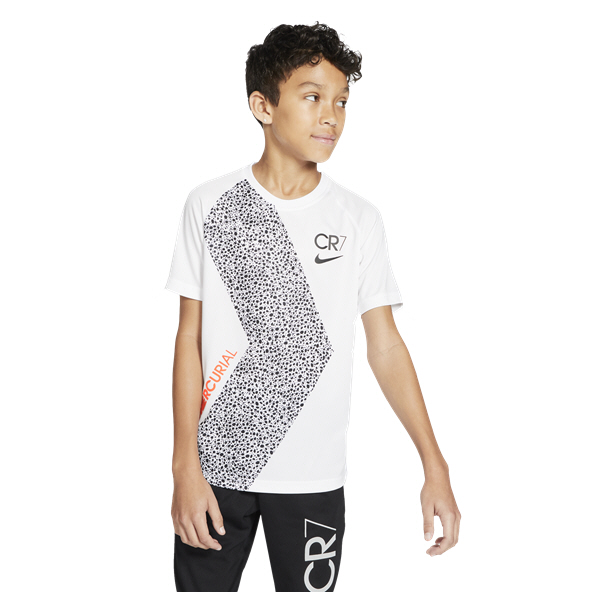 Nike CR7 Dry Boys' T-Shirt, White