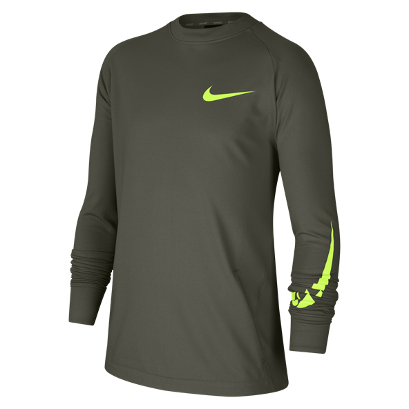 Nike Comfort Boys' Crew Top, Green