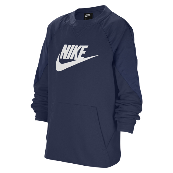 Nike Swoosh Boys' Crew Top, Navy
