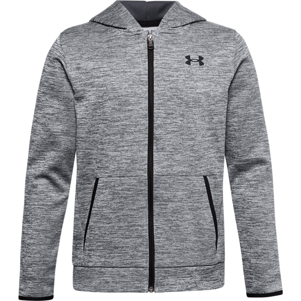 Under Armour® Fleece Full Zip Boys' Hoody Grey