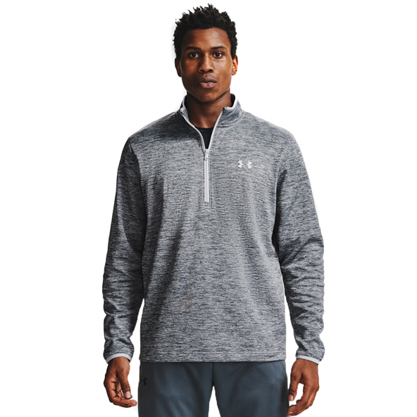 UA Armour Fleece Half Zip Mens Grey