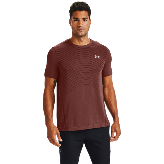 UA Seamless Wave SS Tee Mens Red