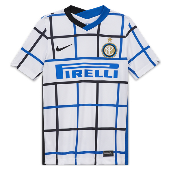 Nike Inter Milan 2020/21 Away Kids' Jersey, White