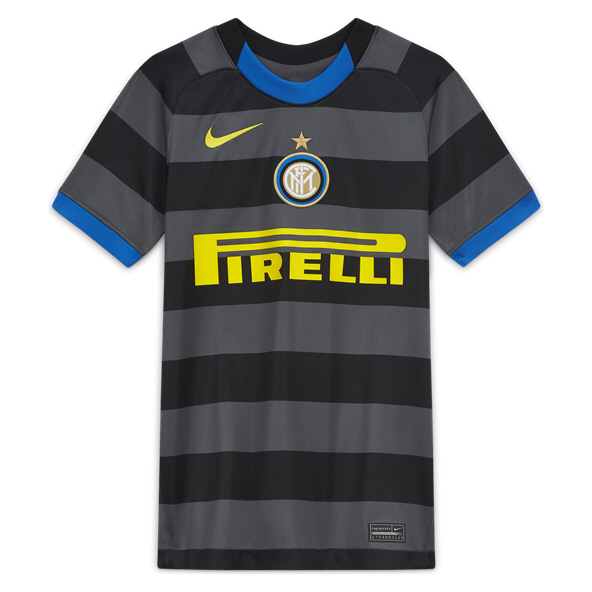 Nike Inter Milan 2020/21 3rd Kids' Jersey Grey
