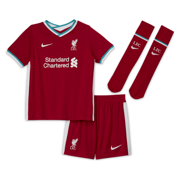 Nike Liverpool FC 2020/21 Home Kids' Kit, Red