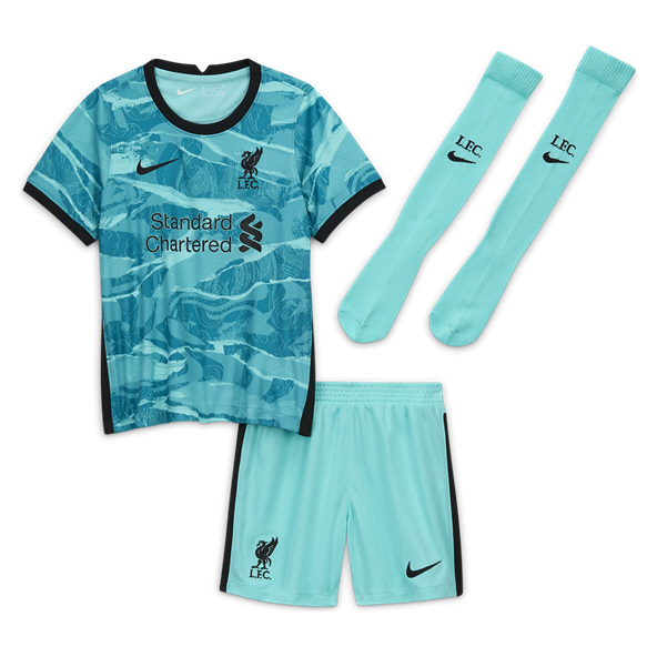 Nike Liverpool 20 Away Kids Kit Green