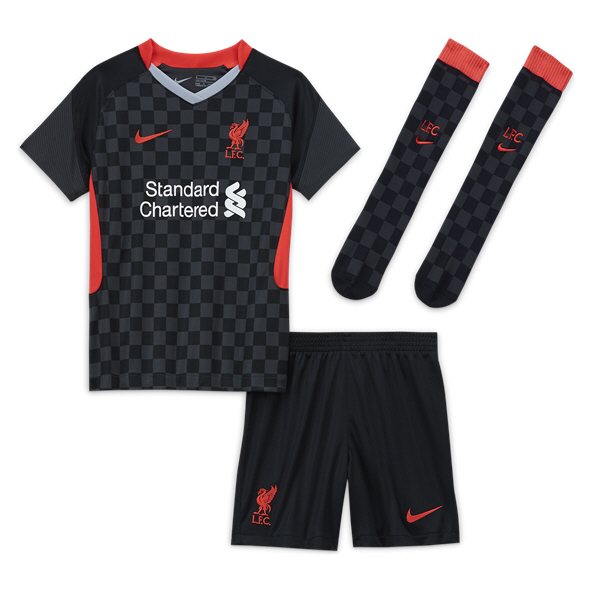 Nike Liverpool 20 3rd Kids Kit Black