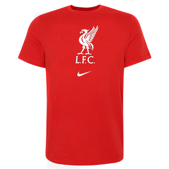 Nike Liverpool FC 2020/21 Everyday Crest Kids' T-Shirt, Red