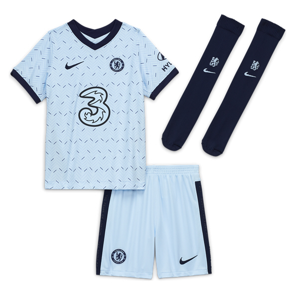 Nike Chelsea 2020/21 Away Kids' Mini Kit, Blue