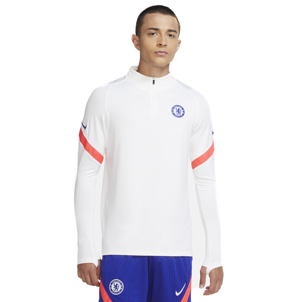 Nike Chelsea 2020/21 Strike Drill ¼ Zip Top, White