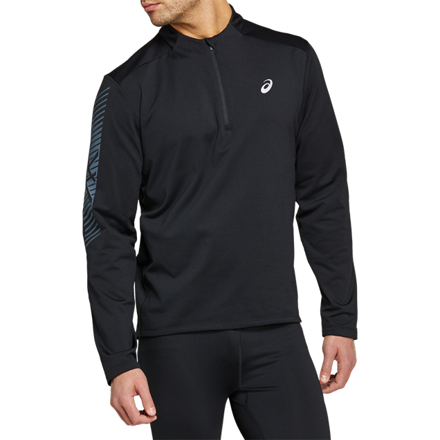 Asics Icon Winter Half Zip Black/Grey