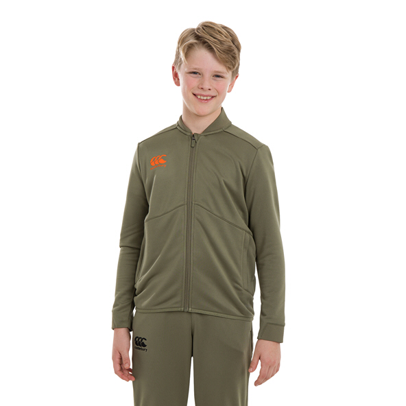 Canterbury Track Boys' Full Zip Jacket Green