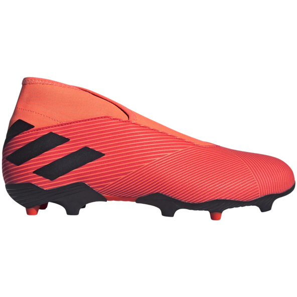 adidas Nemeziz 19.3 Laceless FG Football Boot, Coral