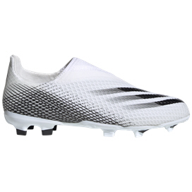adidas X Ghosted.3 Kids' Football Boot, White