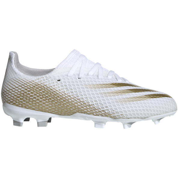 adidas X Ghosted.3 FG Kids' Football Boot, White