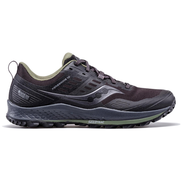 Saucony Peregrine 10 GTX Men's Running Shoe, Black
