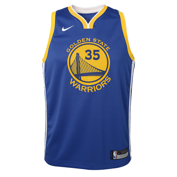 Nike GS Warriors Kids' Jersey - Durant 35, Blue