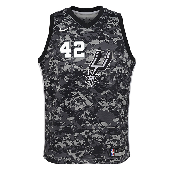 Nike San Antonio Spurs Kids' Jersey - Bertans 42, Black