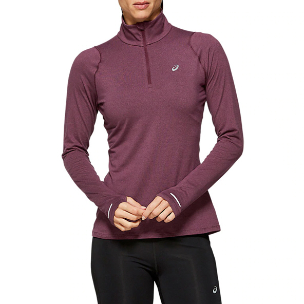 Asics Thermopolis Run Women ½-Zip Running Top, Deep Red