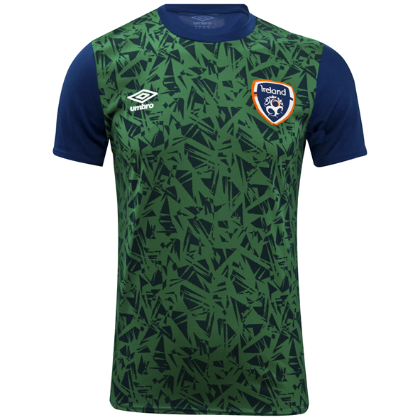 Umbro Ireland FAI 2021 Warm Up Kids' Jersey Navy/Green