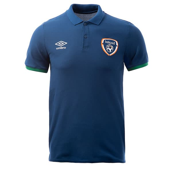 Umbro Ireland FAI 2021 Travel Polo Navy