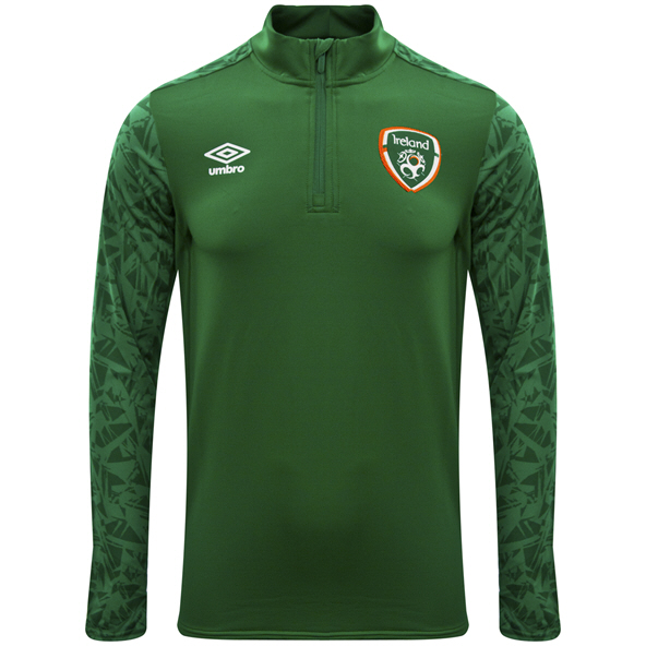 Umbro FAI Ireland 2021 ¼ Zip Kids' Top Green/Navy
