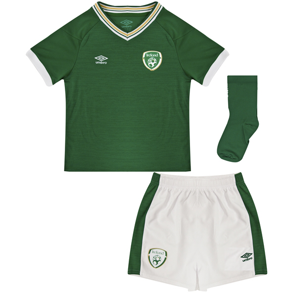 Umbro Ireland FAI 2021 Home Baby Kit Green