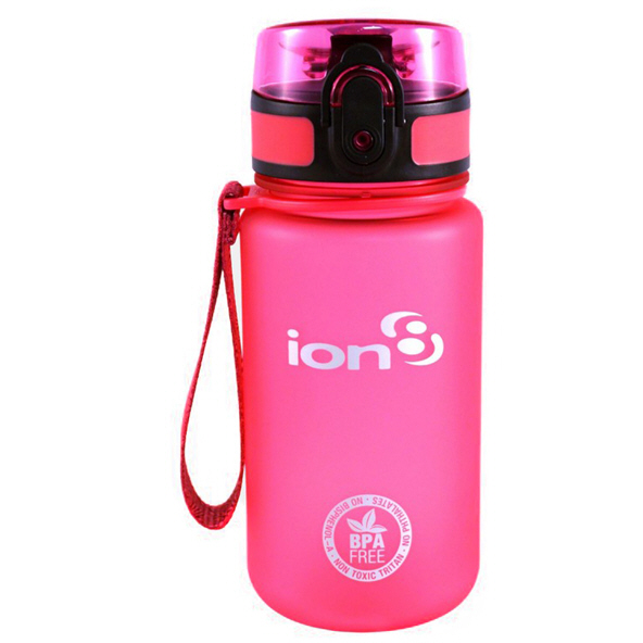 Ion8 POD 350ml Water Bottle – Pink
