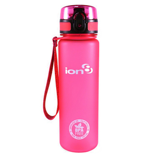 Ion8 Slim 500ml Water Bottle – Pink