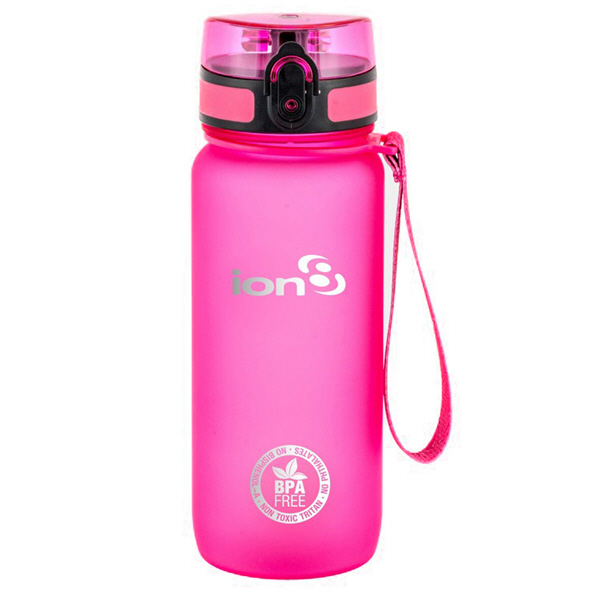 Ion8 Tour 750ml Water Bottle – Pink