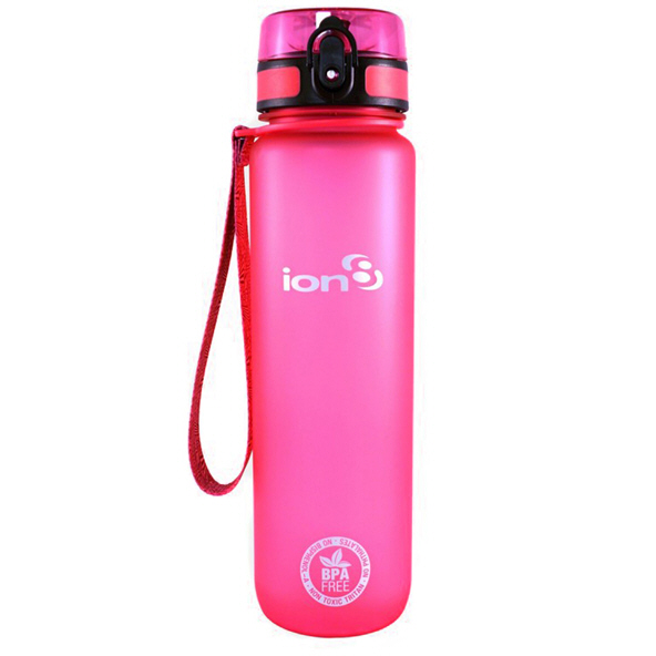 Ion8 Quench 1 Litre Water Bottle – Pink