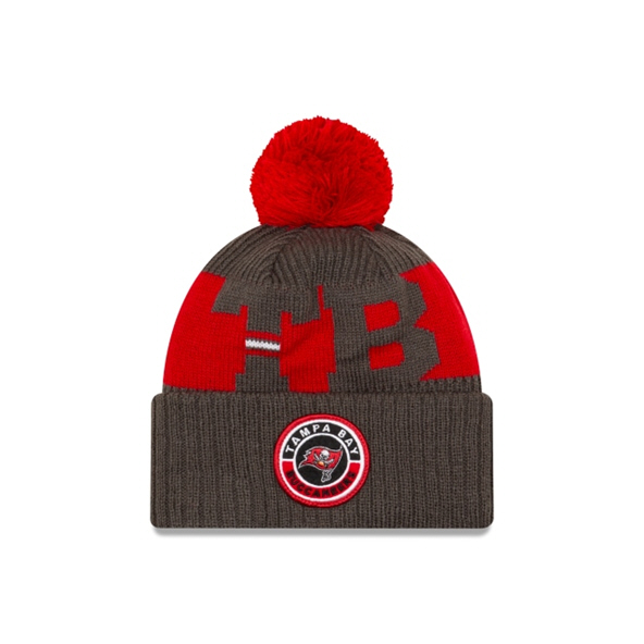 New Era Tampa Bay Buccaneers Bobble Beanie Brown