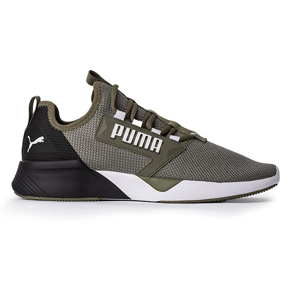 Puma Retaliate Men's Trainers, Olive/White