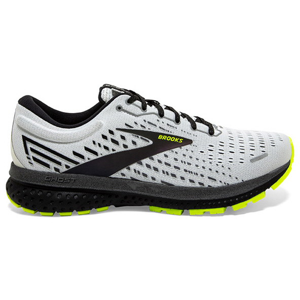 Brooks Ghost 13 Reflective Men's Running Shoe, White