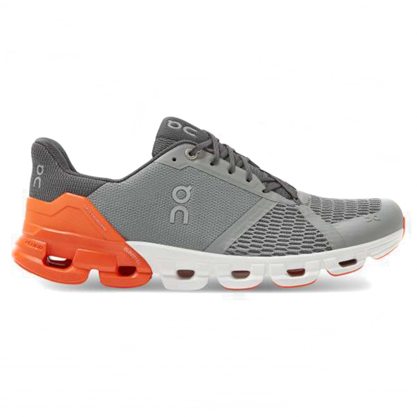 ON Cloudflyer Men's Running Shoe, Grey/Orange