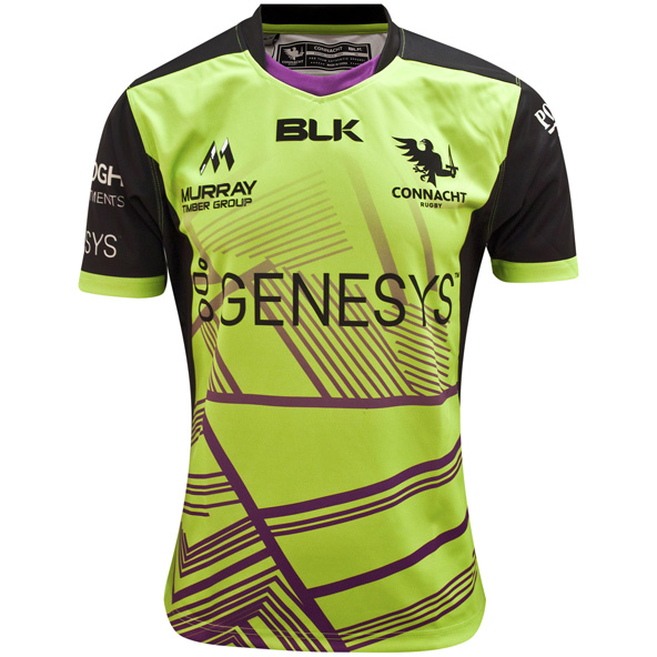BLK Connacht 20 Euro Replica Jersey Grn