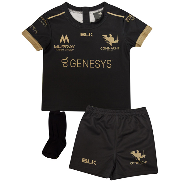 BLK Connacht 20 Away Mini Kit Black