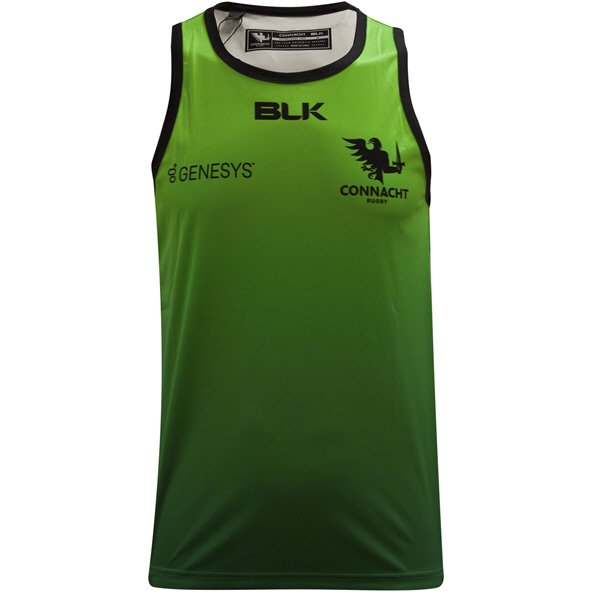 BLK Connacht 20 Training Singlet  Black