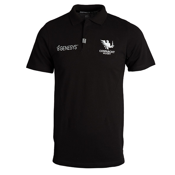 BLK Connacht 20 Essentials Polo Black
