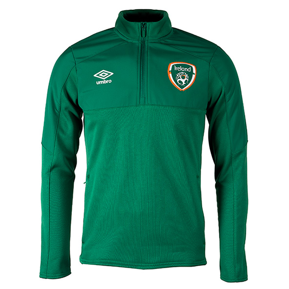 Umbro FAI Ireland 2021 ¼ Zip Top Green