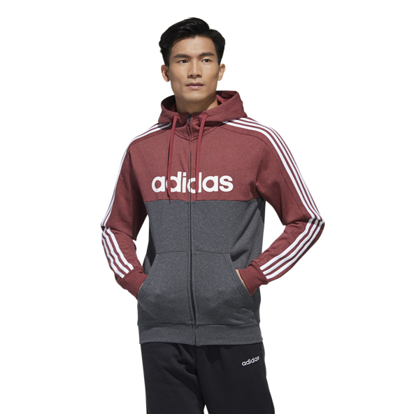 adidas Essential Linear Full Zip Men's Hoody Red