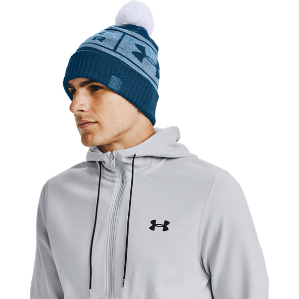 Under Armour® Big Logo Pom Beanie Blue