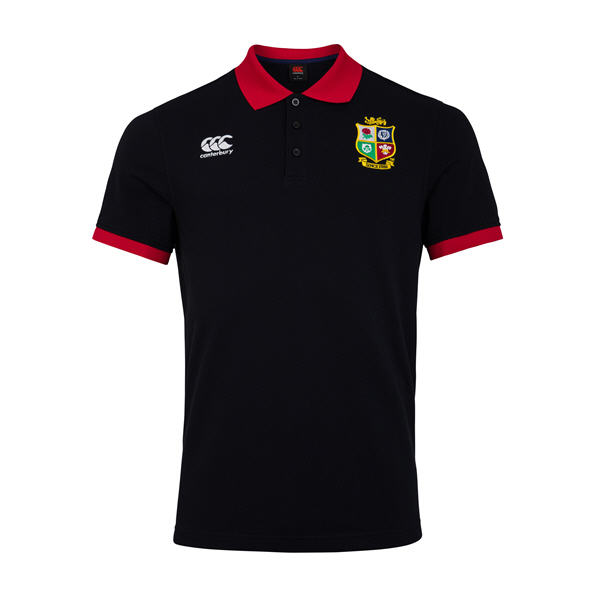 Canterbury Lions Home Nations Polo Black