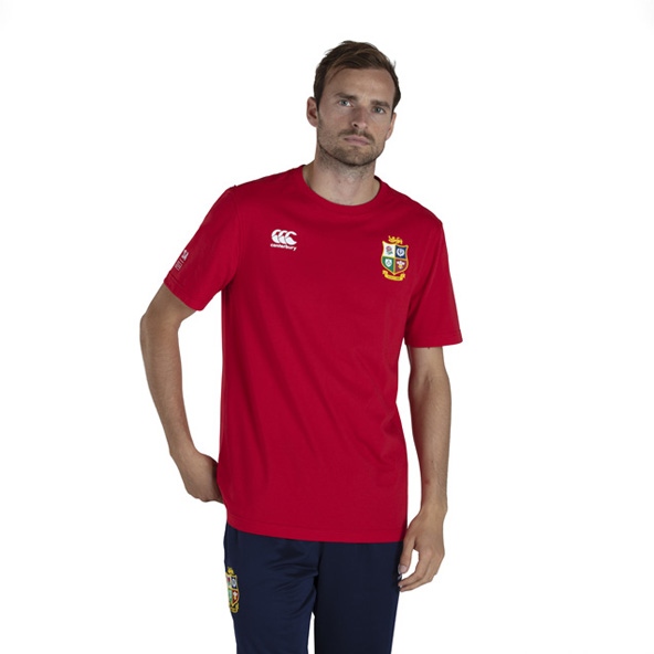 Canterbury Lions Cotton Jersey Tee Red