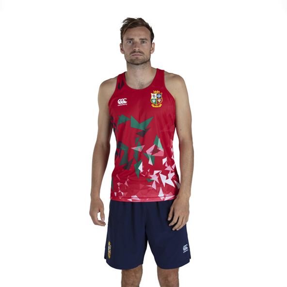 Canterbury Lions Poly Singlet Red