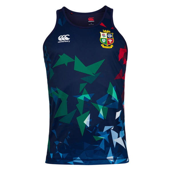 Canterbury Lions Poly Singlet Navy