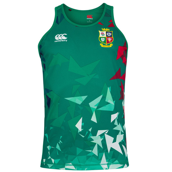Canterbury Lions Poly Singlet Green
