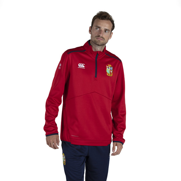 Canterbury British & Irish Lions Thermoreg 1/4 Zip Top Red