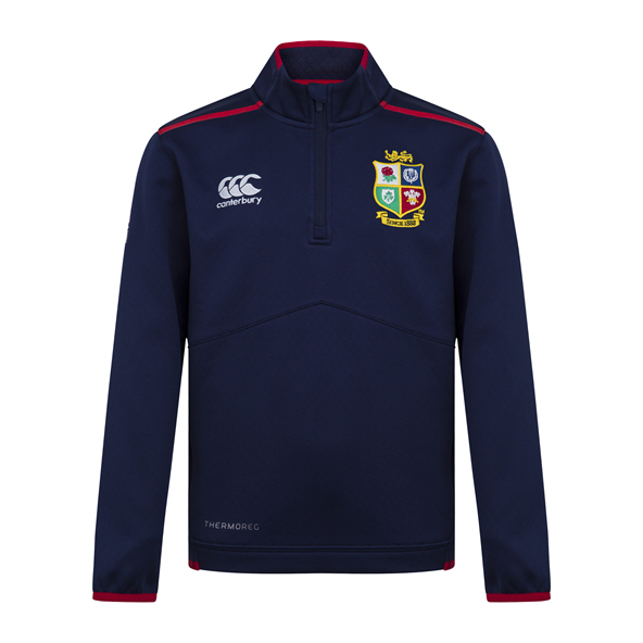 Canterbury British & Irish Lions Thermoreg Kids' 1/4 Zip Top Navy