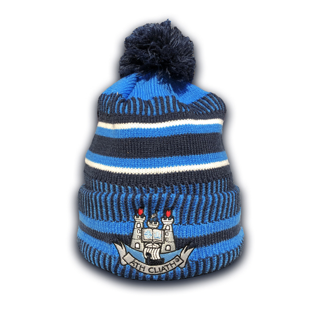 New Era Dublin Cuff Knit Bobble Blue